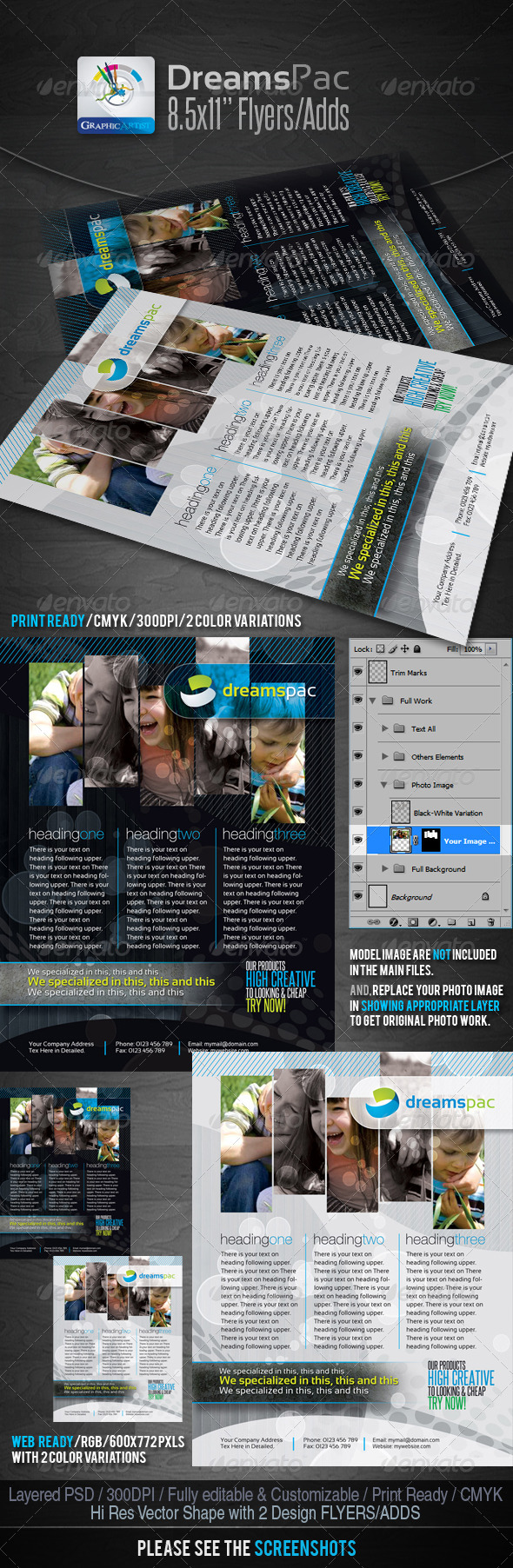 DreamsPac Flyers/Adds For Print/Web - Clubs & Parties Events