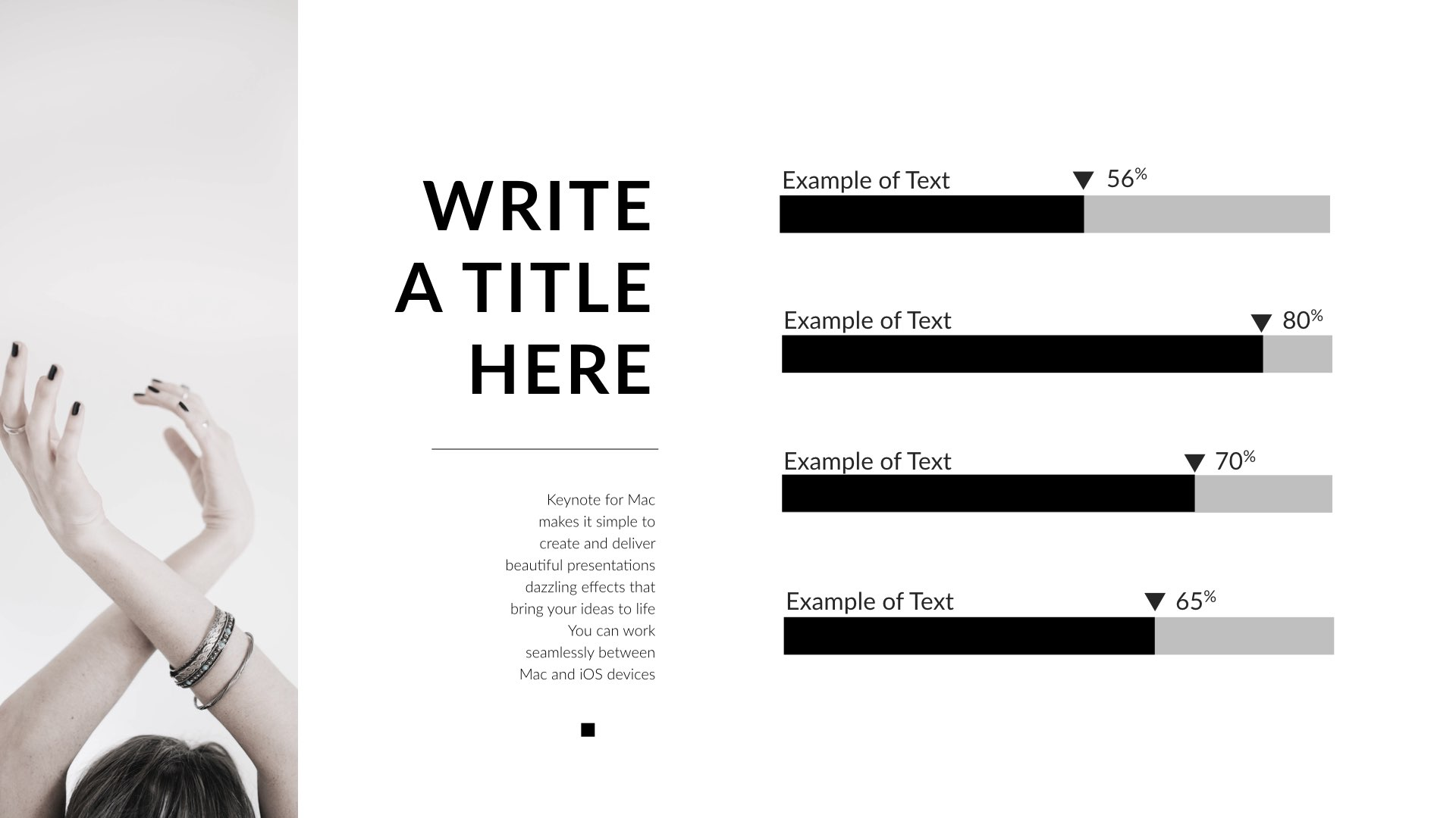 black & white - clean keynote template by 5yue | graphicriver