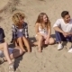 Happy Young Multiracial Friends On a Beach - VideoHive Item for Sale