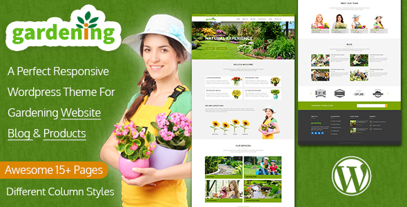 Gardening - WordPress Theme For Landscaping - Business Corporate