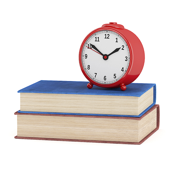 Clock and Two Books - 3DOcean Item for Sale