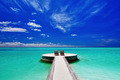 Two deck chairs on stunning tropical beach - PhotoDune Item for Sale