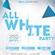 Minimal All White Party Flyer - GraphicRiver Item for Sale