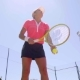 Player Preparing To Serve Tennis Ball - VideoHive Item for Sale
