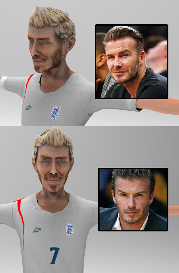 Beckham toon figure - 3DOcean Item for Sale