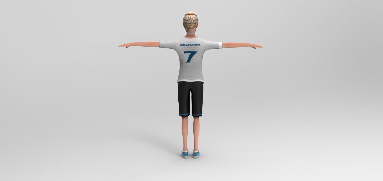Beckham toon figure