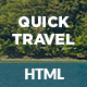 Quick Travel HTML Landing Page - ThemeForest Item for Sale