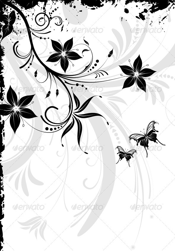Floral design - Flourishes / Swirls Decorative