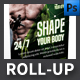 Shape Your Body Roll-up Template - GraphicRiver Item for Sale