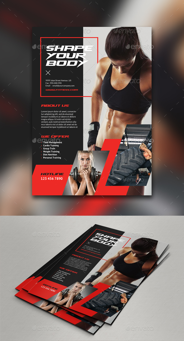 Fitness Flyer Template By Comodensis  Graphicriver