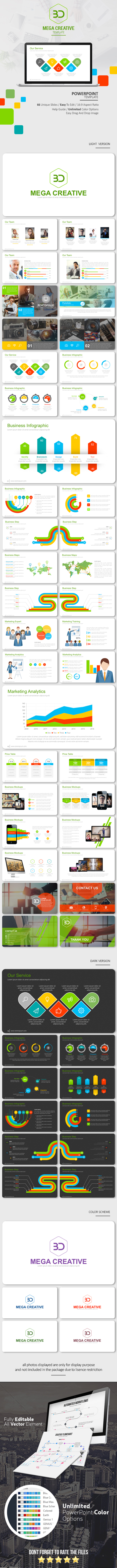 Mega Creative PowerPoint Template - Business PowerPoint Templates