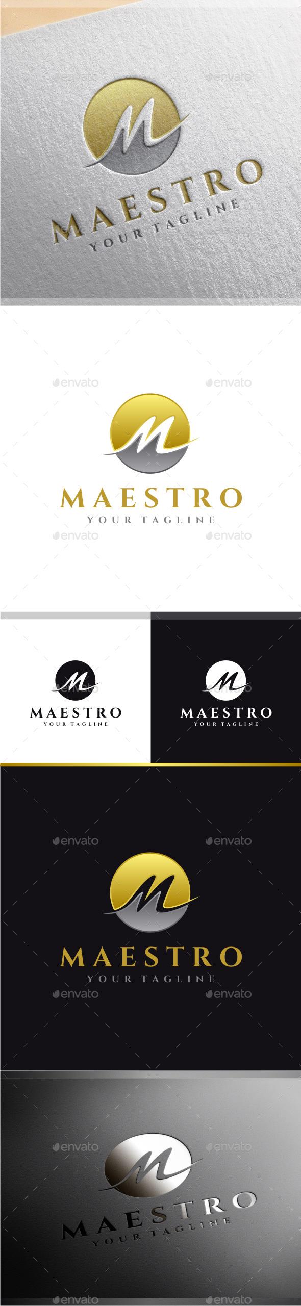 Maestro - Letter M Logo - Letters Logo Templates