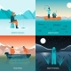 Fishing 2X2 Design Concept - GraphicRiver Item for Sale