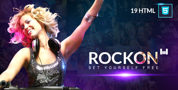 Music Club - Music/Band/Dj/Club/Party Website Template Rockon