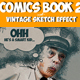 Vintage Comics with Sketch Effect Photoshop Creator