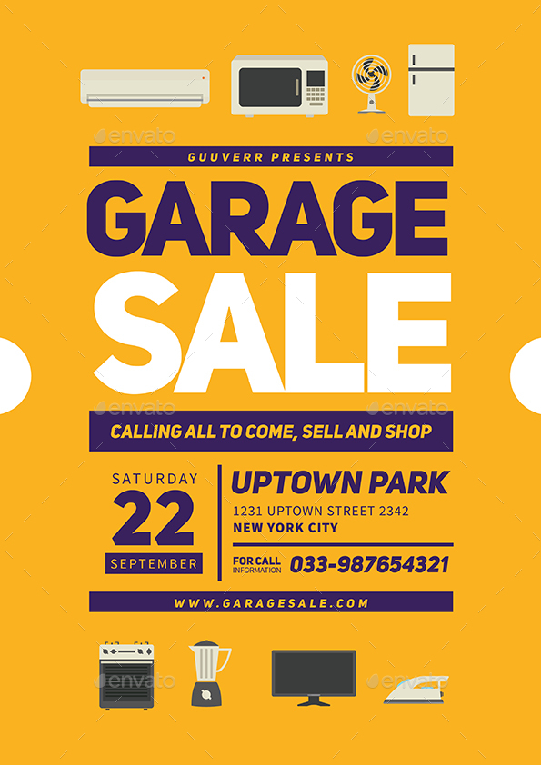 garage sale flyer vol 02 by guuver graphicriver