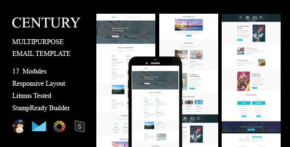 CENTURY – Multipurpose Resonsive Email Template + Stampready Builder