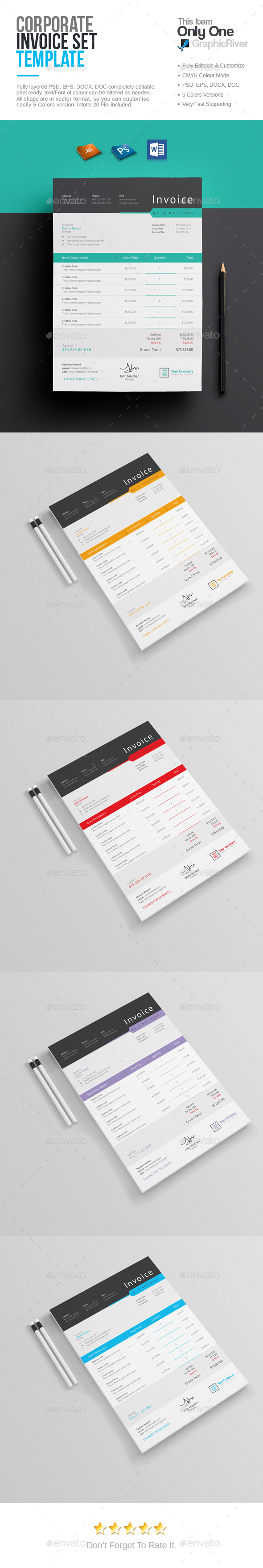 Invoice Templates - Proposals & Invoices Stationery