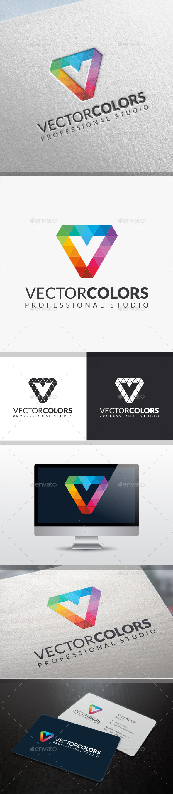 Vector Colors - Letter V Logo  - Letters Logo Templates