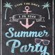 Chalk Summer Beach Party Flyer - GraphicRiver Item for Sale