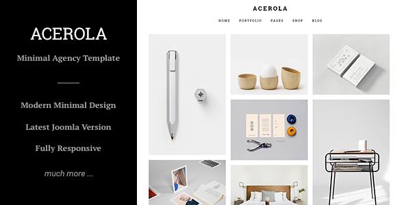 Acerola – Ultra Minimalist Agency, Portfolio & Photography Joomla Template