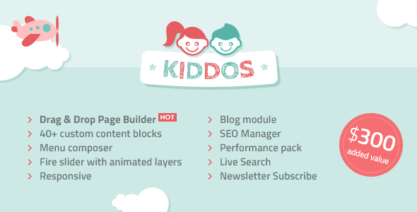 Kiddos – Hand Crafted Kids OpenCart Theme