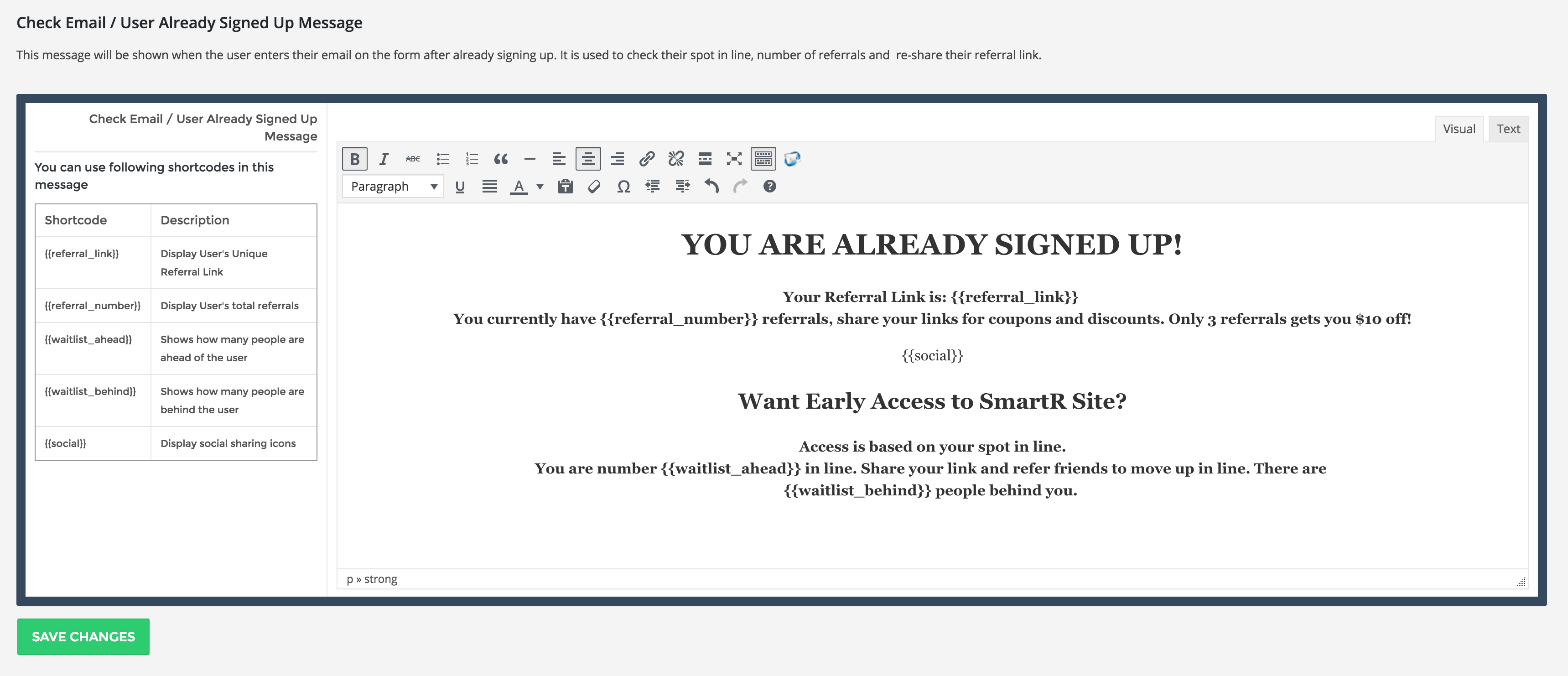 hype viral marketing program for email sign ups by smartersite