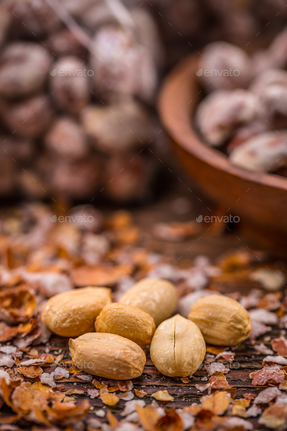 Peeled salted peanuts - Stock Photo - Images