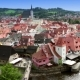 Panorama Of City And Historic Castle In Cesky Krumlov . Czech Republic - VideoHive Item for Sale