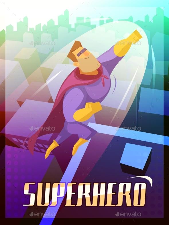 Superhero Poster Illustration