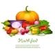 Vegetable Health Food Design Concept