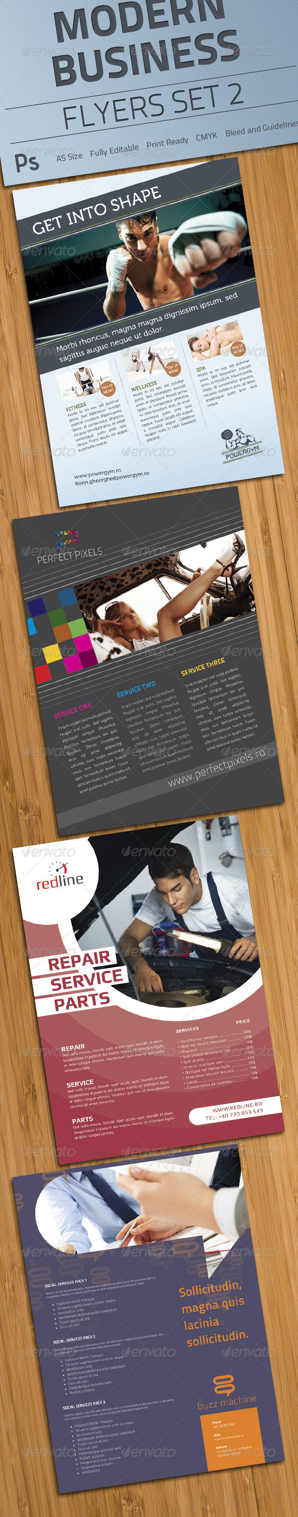 Modern Business Flyers Set 2 - Clubs & Parties Events