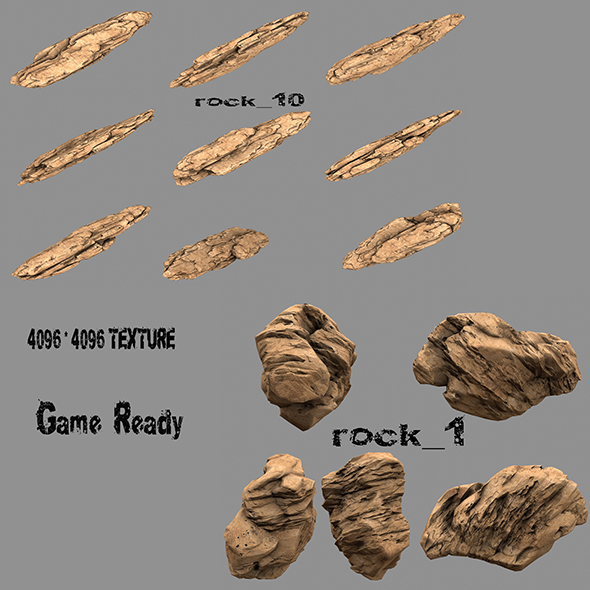 rock 1 - 3DOcean Item for Sale