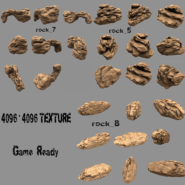 rock 5 - 3DOcean Item for Sale