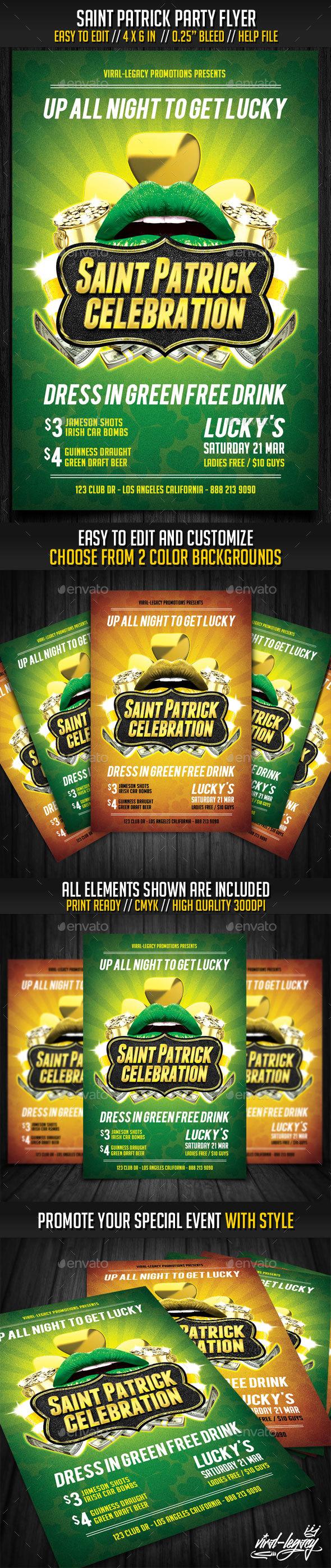 Saint Patrick Party Flyer - Events Flyers