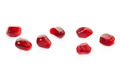 Pomegranate red seeds collection isolated on white, clipping pat