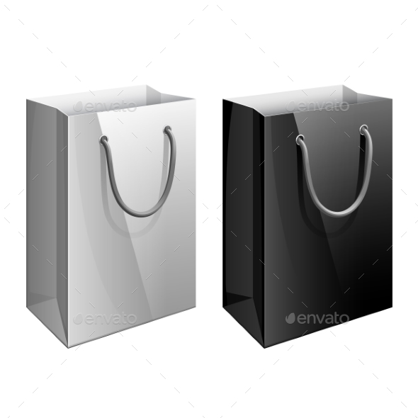 Paper Bag Template by Solllnce | GraphicRiver
