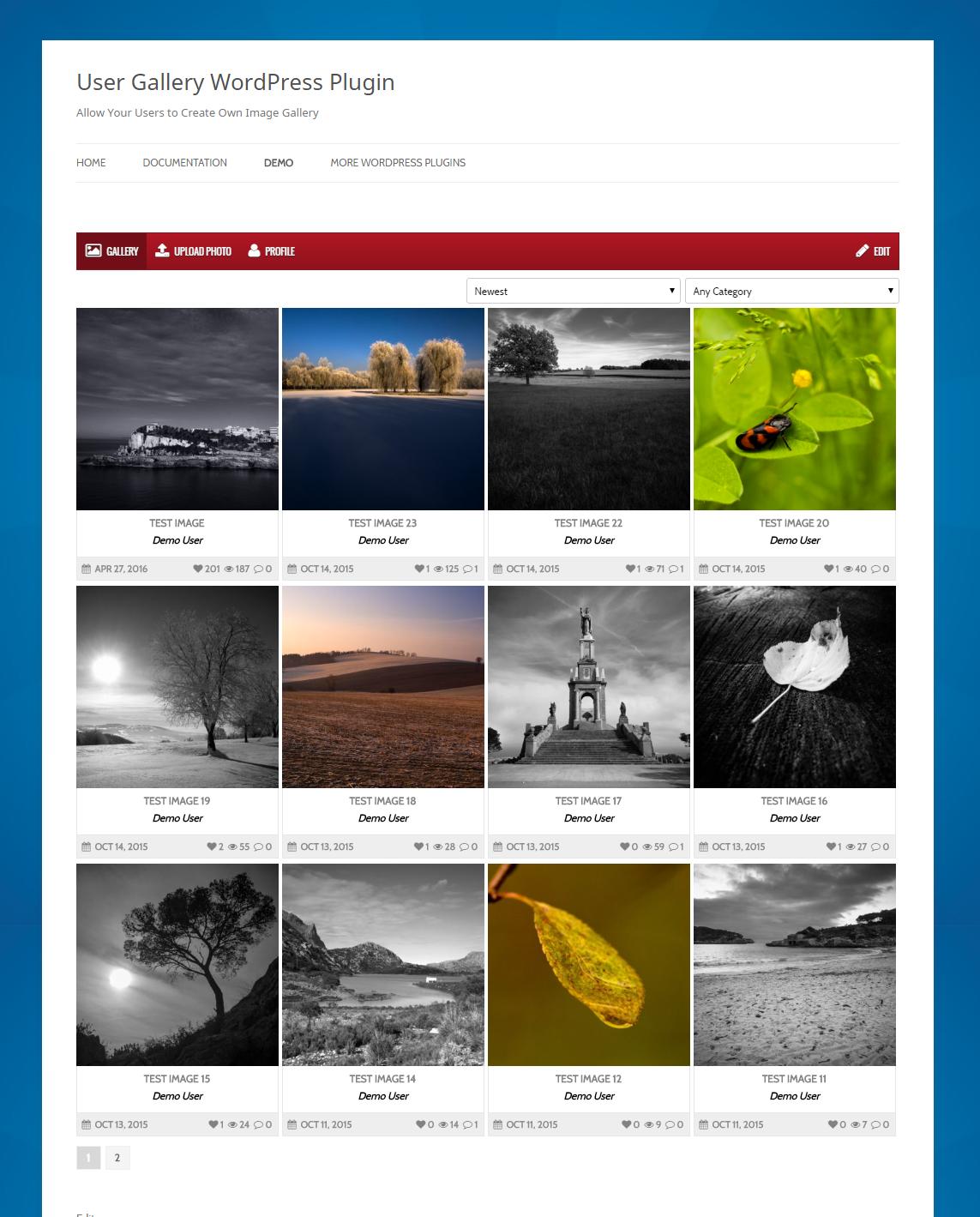 Wordpress: User Gallery WordPress Plugin By GalleryPlugins