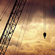 Crane On Cinematic Golden Sky - VideoHive Item for Sale