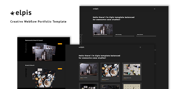 Image of Elpis - Creative Webflow Portfolio Template