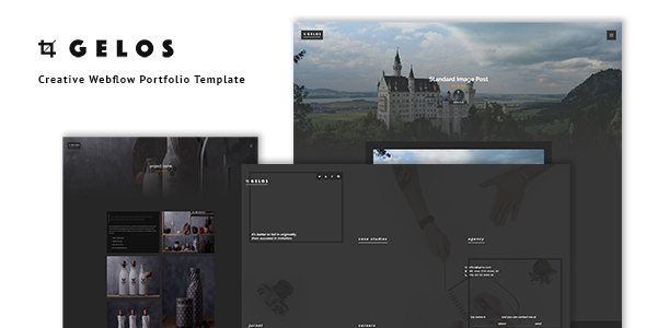 Image of Gelos - Creative Webflow Portfolio Template