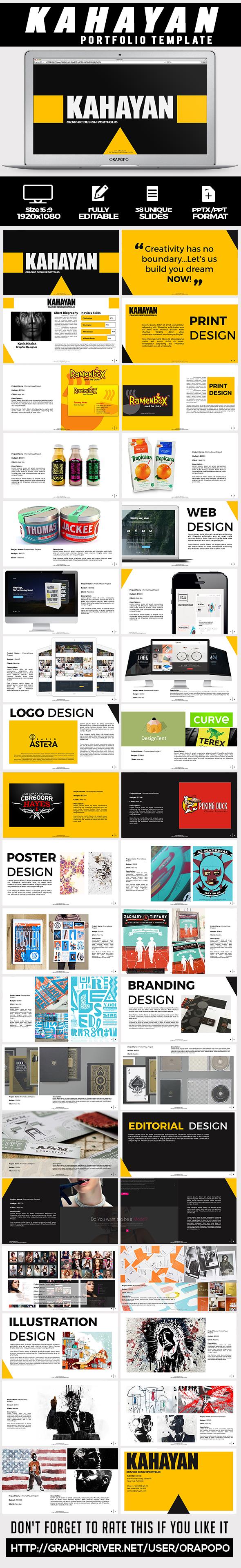 Kahayan ~ Portfolio Template - Creative PowerPoint Templates