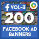 Facebook Ad Banners(VOL-03) - 200 Designs - GraphicRiver Item for Sale