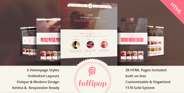 Lollipop – Awesome Sweets & Cakes Responsive WordPress Theme