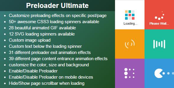 Preloader Ultimate Wordpress Plugin