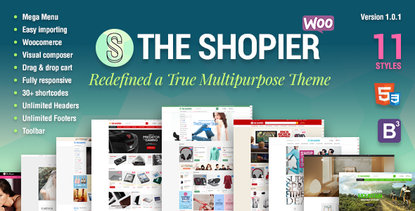 Shopier – Responsive Multipurpose WordPress WooCommerce Theme