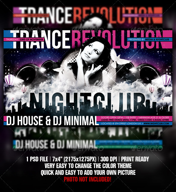 House Revolution Flyer - Clubs & Parties Events
