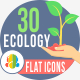 30 Ecology  Flat Icons - GraphicRiver Item for Sale