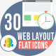 30 Web Layout Round Icons - GraphicRiver Item for Sale