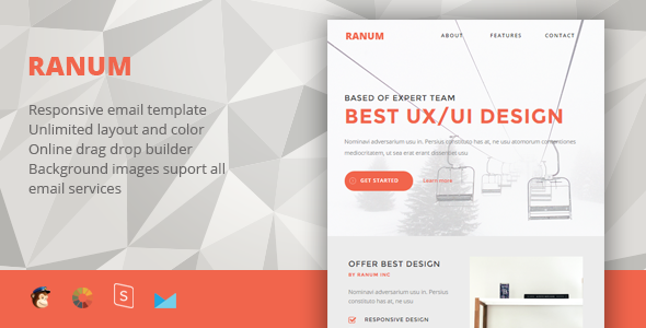 Ranum - Responsive Email + StampReady Builder - Newsletters Email Templates